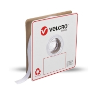 VELCRO� Brand Strip Fastener Loop Only 25mm x 25Mt White Roll