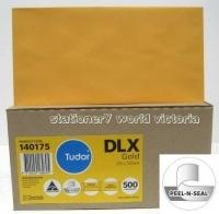 Tudor Envelope 120x235 DLX PeelNSeal Gold BX500 140175