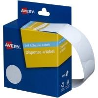 Avery Dispenser Label 24mm White BX550