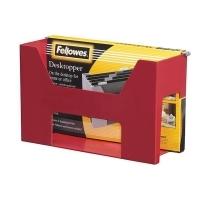 Fellowes Desktop Suspension File Holder Burgundy 0154401