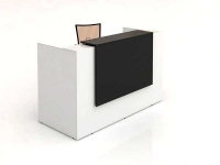 Sorrento Reception Counter 1500x840x1150mm White/Charcoal