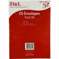 Stat Envelope 229x162 C5 PNS Heavy Duty White Pack of 50
