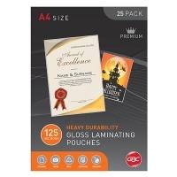 GBC Laminating Pouch A4 125mic Gloss PK25 BL125M25A4