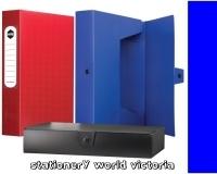 Marbig Box File A4 Polyprop+Button BX10 2009801 60mm Blue