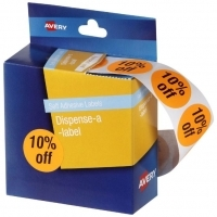 Avery Dispenser Label Circle 24mm PK500 Printed 10% off