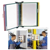 TARIFOLD METAL WALL DISPLAY 10 PVC A4 POCKET