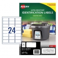 Avery L7912 Ultra-Resistant Outdoor Labels PK10sh 24/sh
