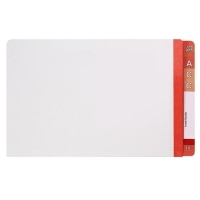 AVERY LATERAL FILE Mylar Reinfcd Tabs Fcap 42431 Red/Clear