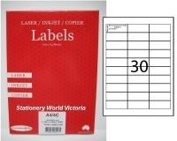 Rediform Labels Multipurpose A4 BX100 A4/30C (30/sh) 64x25.4