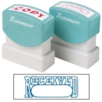 XSTAMPER STAMP - Received/Date (Blue) 1203 (5012030)