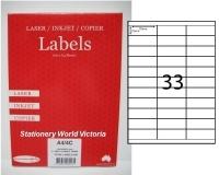 Rediform Labels Multipurpose A4 BX100 A4/33C (33/sh) 70x25.4