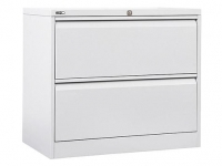 Go Lateral Filing Cabinet 2 Drawer White Satin