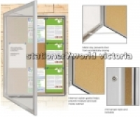 Visionchart External Notice Board TX6000 1050x1080mm 50mm(D)