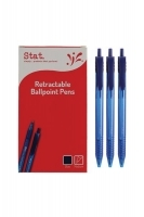 STAT Ballpoint Pen Retractable 1.0mm BX12 Medium Blue