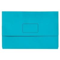 Marbig Slimpick Bright Document Wallet Manilla Fcap PK10 MARINE