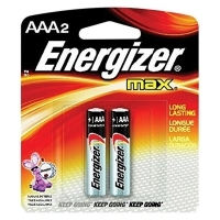 Energizer Max Battery Alkaline ( AAA ) Pkt2 E92