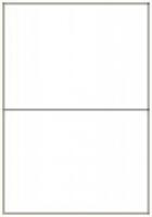Custom Label 403 A4 BX100 2/sheet White 210x147.6