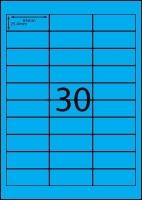 Rediform Colour Labels A4 Bx100 (30/sh) 64x25.4 Flouro Blue