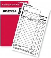 Invoice Book Triplicate 8x5 Carbonless Impact SB323