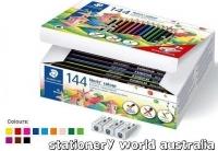Staedtler 185 Noris Colour Pencils assorted Class Pack of 144