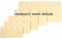 ESSELTE SHIPPING TAGS No 1 Buff (35x70mm) BX1000 38983