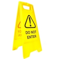 CLEANLINK SAFETY SIGN Do Not Enter 32x31x65cm