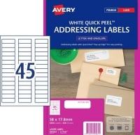 Avery Laser Label L7156 BX100 45/sheet