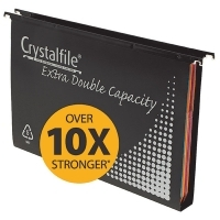 Crystalfile Suspension Files PP Double capacity BX10 Black