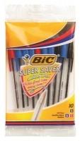 BIC Cristal Super Saver Ballpoint Pens Medium Asstd PK10