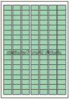 Custom Label 460 A4 BX100 126/sheet Green Tint 25x15mm