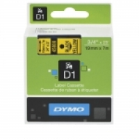Dymo Labelling Tape D1 19mm x 7M 45808 Black on Yellow
