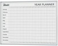 Penrite Whiteboard Porcelain Year Planner QTYEAR0906 900x600mm