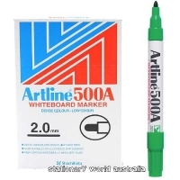 Artline Whiteboard Marker 500A Bullet Green BX12