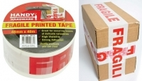 Handy Packaging Tape 48mm x 40Mt FRAGILE ( Red/White )