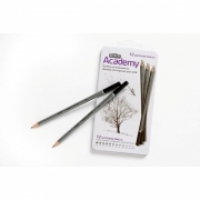 Derwent Academy Pencils Sketching tin12 Assorted 2301946
