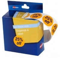 Avery Dispenser Label Circle 24mm PK500 Printed 25% off