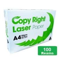 Copy Right Laser A4 White 80gsm Copy Paper C(20bxs:100reams)