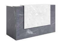 Sorrento Reception Counter Marble Charcoal/White 1800x840x1150mm