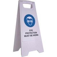 CLEANLINK SAFETY SIGN Eye Protection Must Be Worn 32x31x65cm