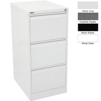 Go Filing Cabinet 3 Drawer White Satin