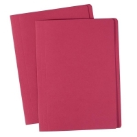 Avery Manilla Folders Coloured Fcap  BX100 Red