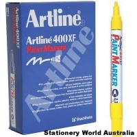 Artline 400XF Paint Marker 2.3mm Yellow BX12