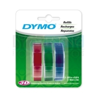 Dymo Embossing Tape 9mm x 3M (Pkt3) Assorted Colours