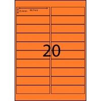 Rediform Colour Labels A4 Bx100 (20/sg) 98.7x25.4 Flouro Orange