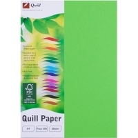 Quill Coloured Paper A4 80gsm Pack 500 - Lime