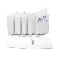 Bantex Insert Binder A4 2D 25mm (200page) White BX25 NO LABEL