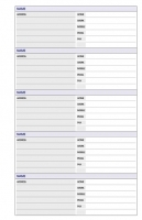 Dayplanner Refills PR2002 172x96 Telephone/Address