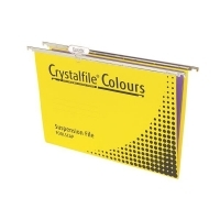 Crystalfile Suspension Files Complete Tabs&Inserts PK10 Yellow