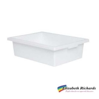 Elizabeth Richards Plastic Tote Tray White