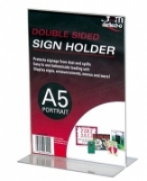 Deflecto Sign Holder Double Sided T-Shape A5 Portrait 47901